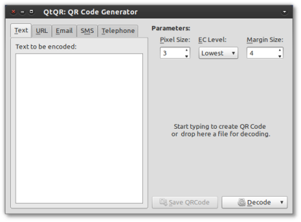 QtQR 1.2 Screenshot